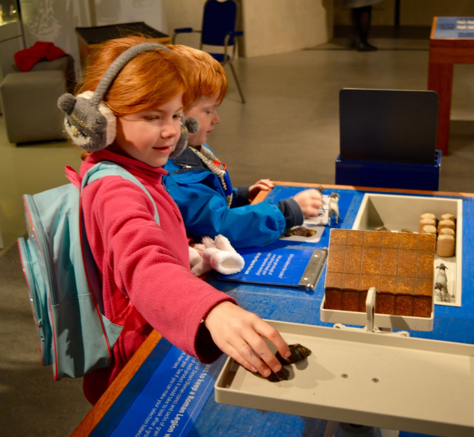 Great Days Out with Northern  | Our Day Trip to Carlisle by Train - kids play in Roman exhibition at Tullie Museum