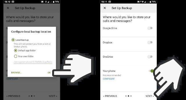 Cara Backup SMS Di Android by 4