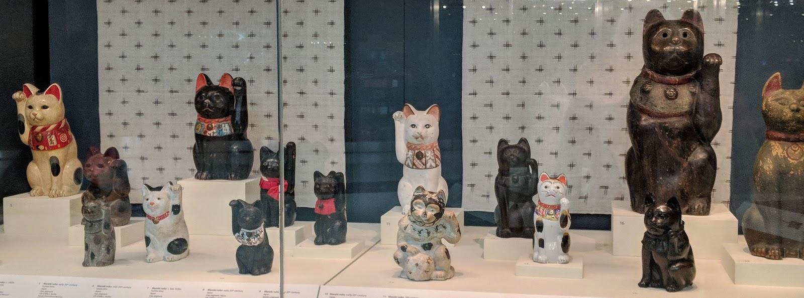 meneki neko the beckoning cats of japan at the san francisco airport museum