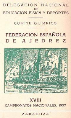 Portada del boletín del XVIII Campeonato de España de Ajedrez