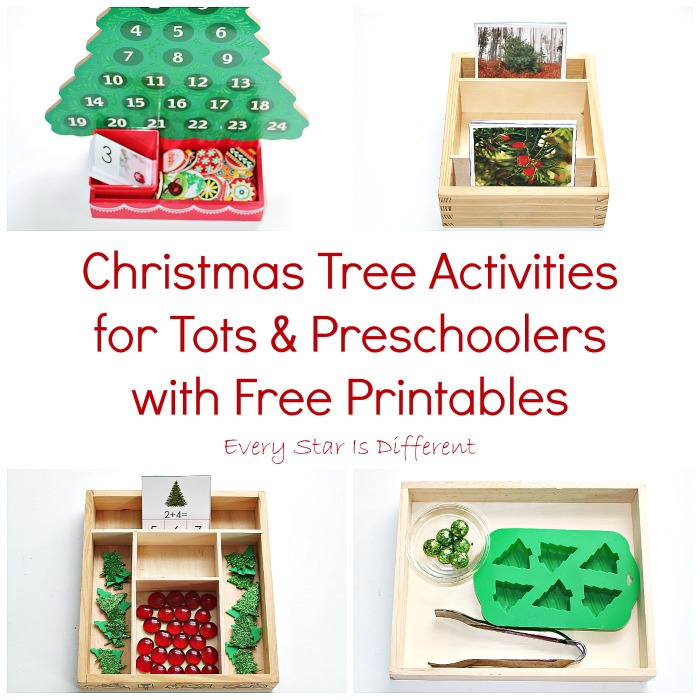 Christmas Tree Activities for Tots  Preschoolers with Free - christmas tree printables