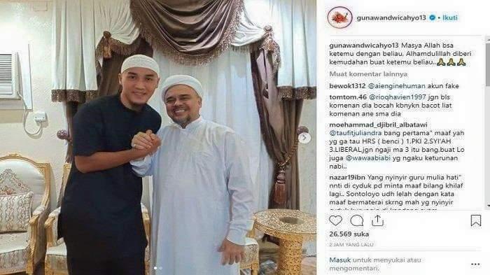 Foto Bareng Habib Rizieq, Unggahan Bek Persija Gunawan Dihapus Instagram
