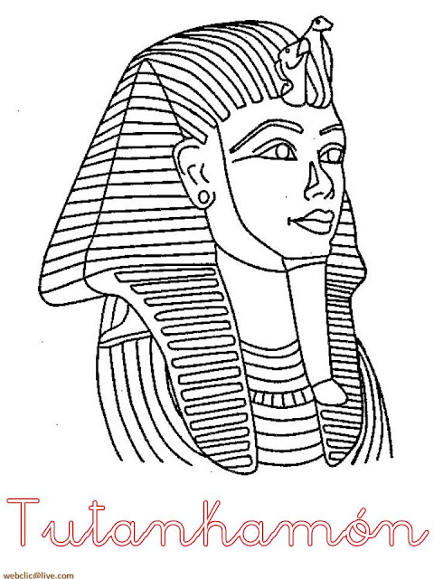 desenho de faraó do egito