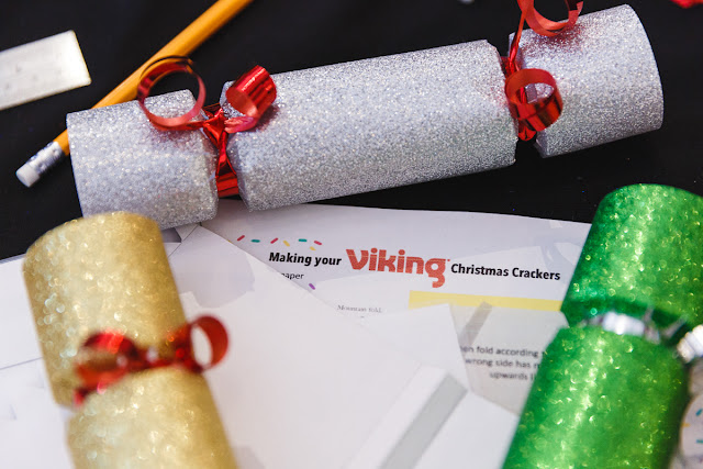 Christmas cracker making with Viking