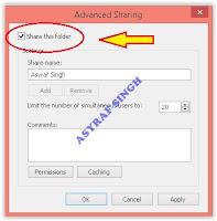 advanced sharing window