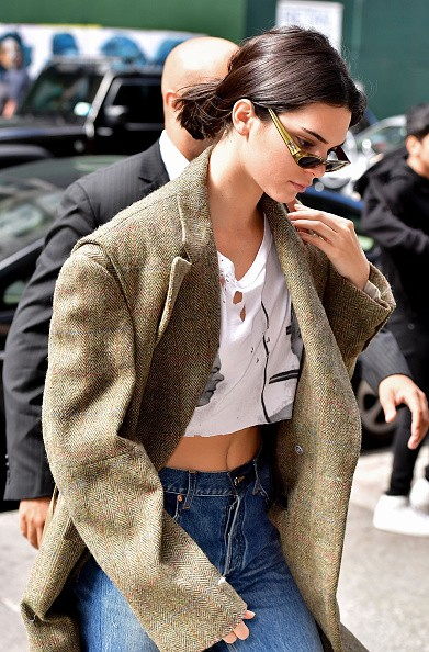 Kendall Jenner Flaunts Her Flat Tum in a Crop Top