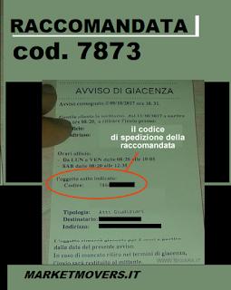 Avviso giacenza raccomandata 7873, cosa contiene?