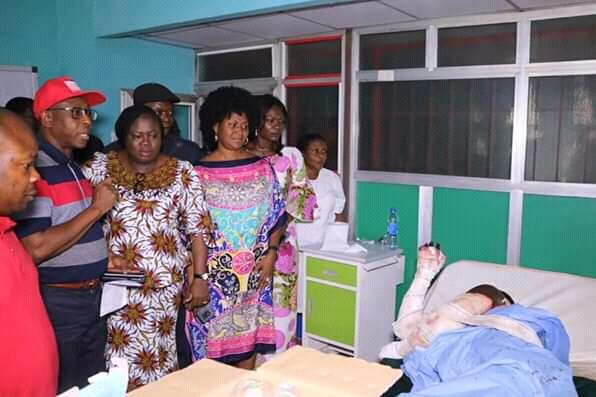 Mrs Ikpeazu, Commisioner for health visit victims of pipeline explosion