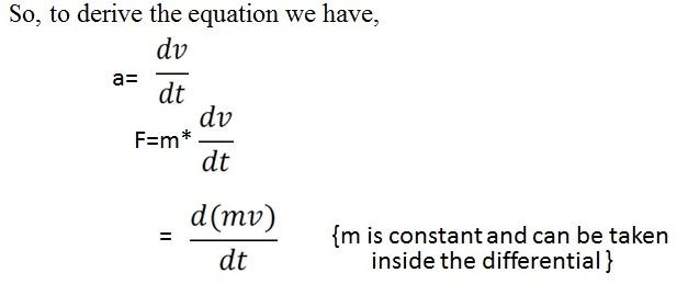 impulse momentum relationship newtons second law lab