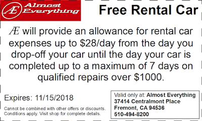 Coupon Free Rental Car October 2018