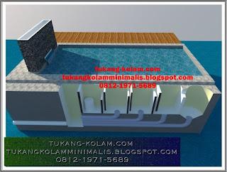 sistem filter vortex dan chamber untuk kolam koi