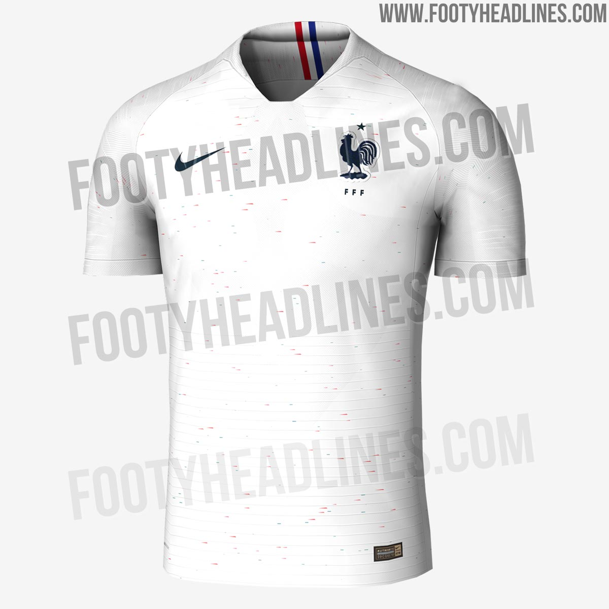 2fa5c4d7e78 FRANCE 2018 WORLD CUP AWAY KIT. This image shows the France 2018 away  uniform.