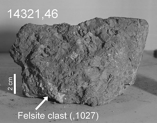 rocha lunar 14321 - rocha da missão apollo 14 pode ser da terra