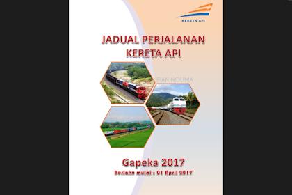 Jadwal Perjalanan Kereta Api per 1 April 2017 (GAPEKA 2017)