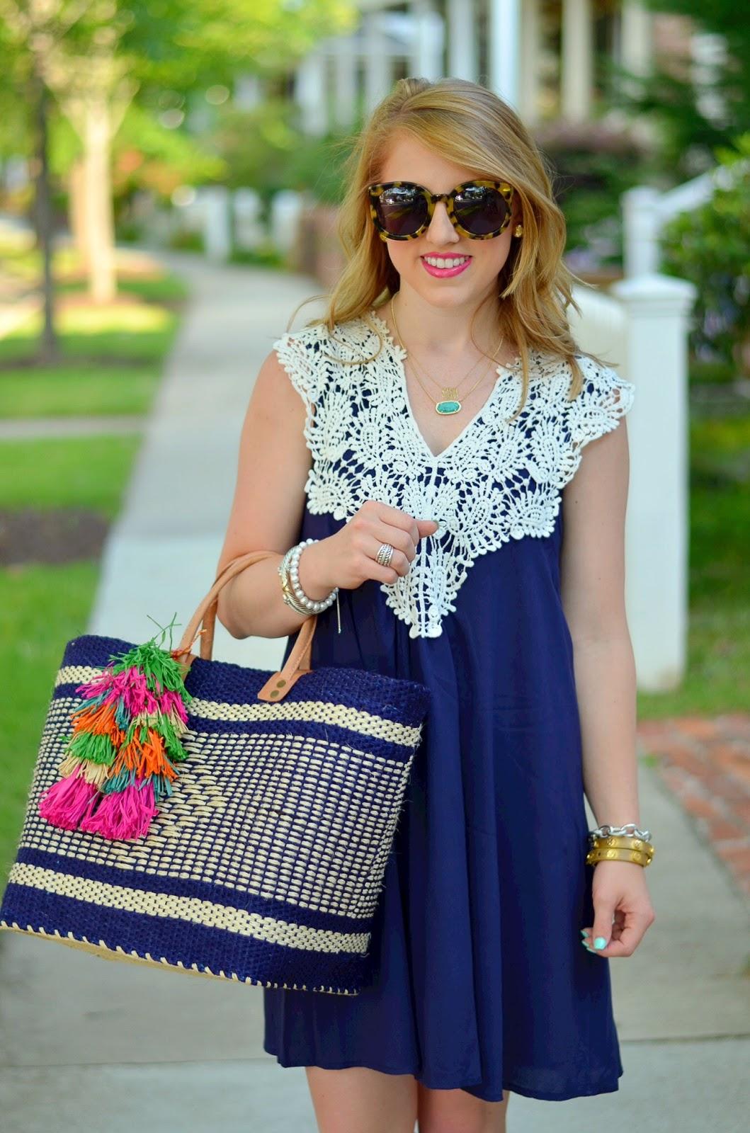 Crochet Shift Dress
