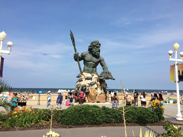 "Neptune ""King of Sea"" Statue at Virginia Beach"