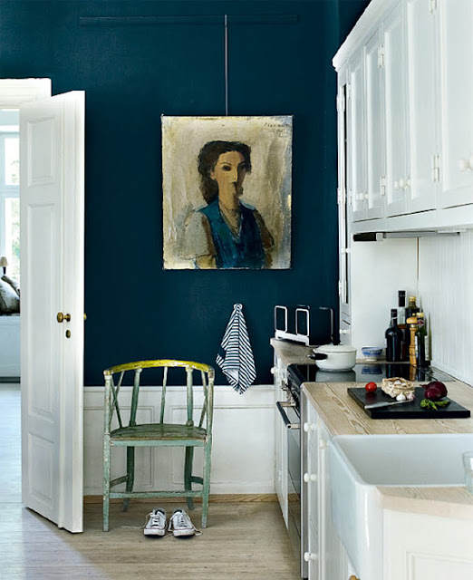 Dark Teal Kitchen
