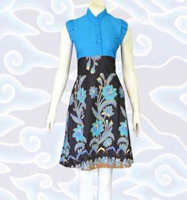 contoh model baju batik wanita kerja