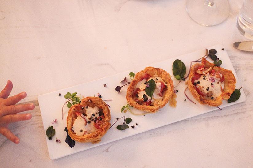 Tomato Tarts at Kitchen 320 in Savannah.