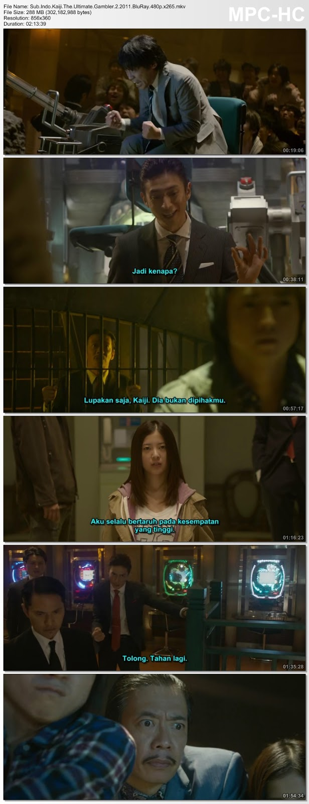 Screenshots Movie Sub.Indo.Kaiji 2: Jinsei Gyakuten gemu aka Kaiji 2: The Ultimate Gambler (2011).BluRay.480p.x265.mkv