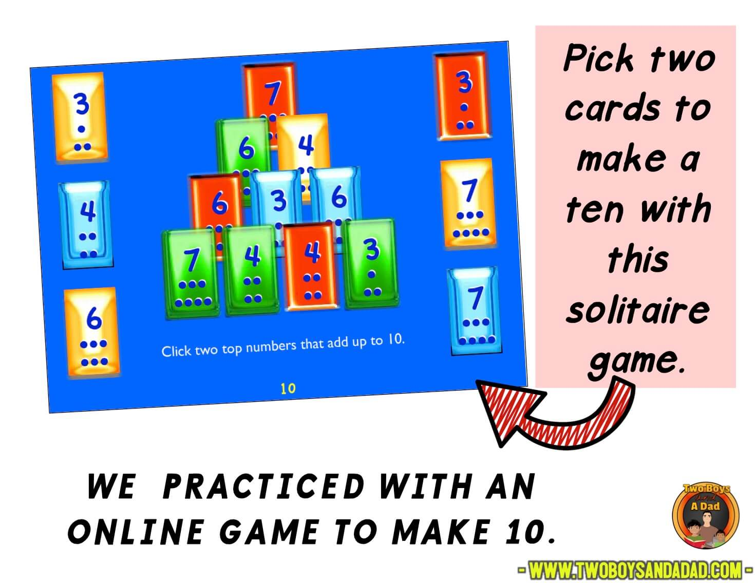 Online game to practice making a ten