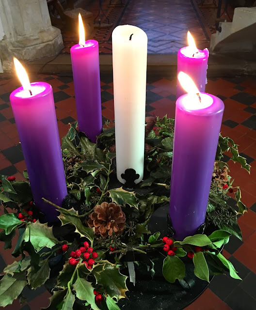 church advent wreath and candles