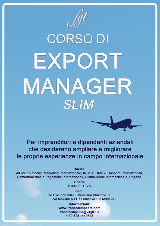 "Tempesta and Partners Consulting: Corso per Export Manager ""Slim"""