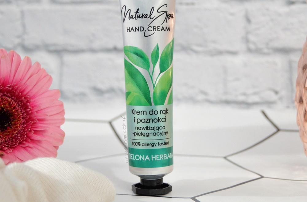 Krem do rąk i paznokci nawilżająco-pielęgnacyjny - Zielona Herbata / Natural Spa - kosmetyki AA