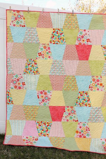 Tumbler Patchwork Quilt Tutorial