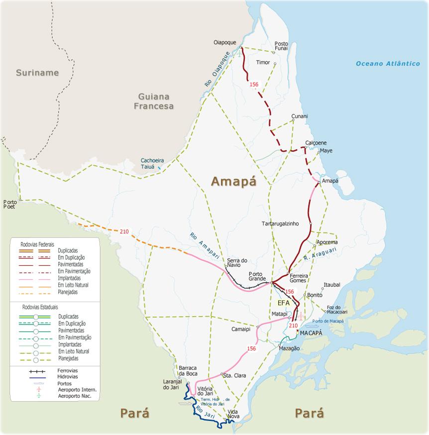 Mapas do Estado do Amapá
