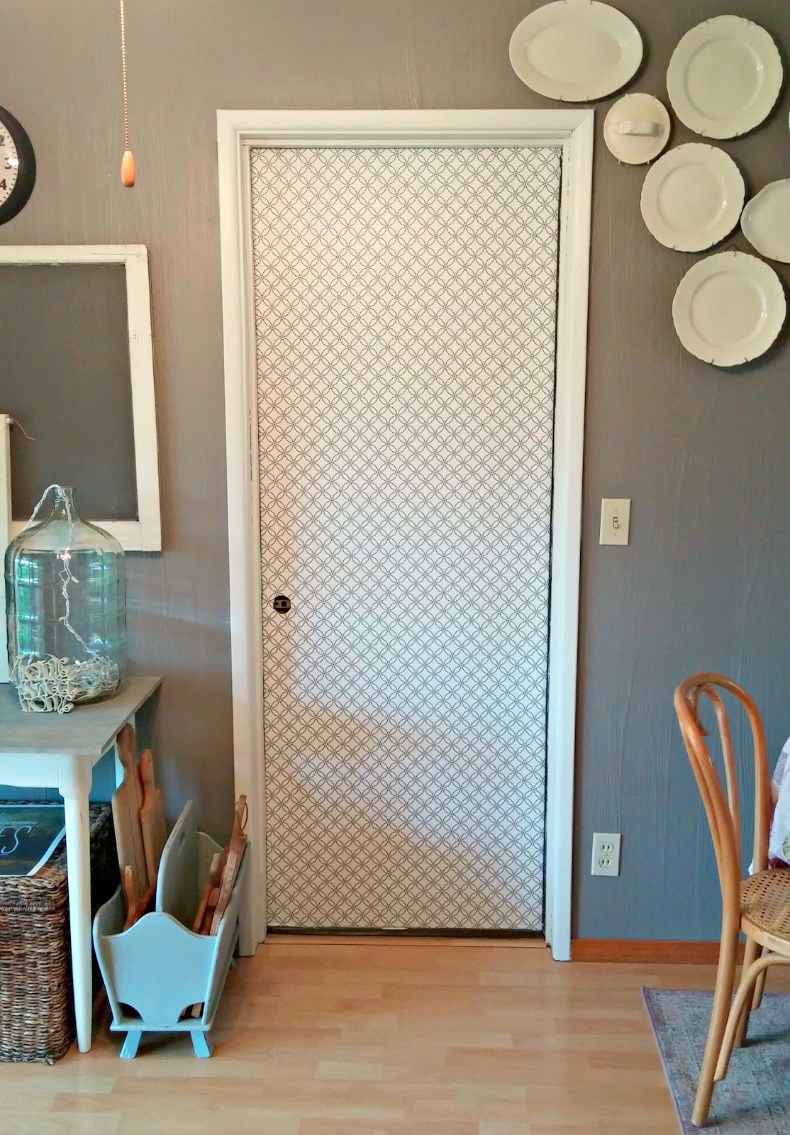 Interior Door Makeover With Peel Amp Stick Wallpaper