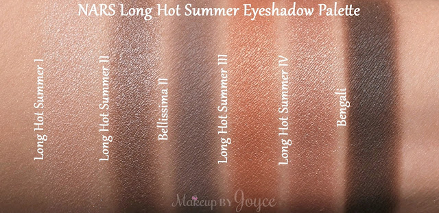 NARS Long Hot Summer Eyeshadow Palette Swatches Bengali