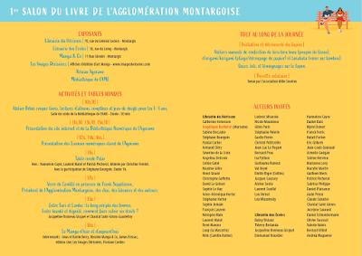 Programme du Salon du Livre de l'agglomération Montargoise 2019