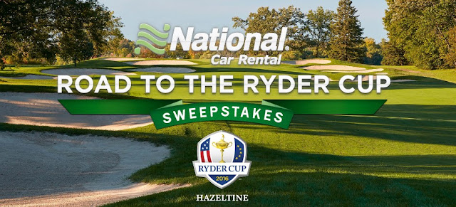National Car Rental wants you to enter daily for a chance to win a golfer's dream vacation to this years Ryder Cup at Hazeltine National Golf Club in Minneapolis or great weekly golfing prizes!