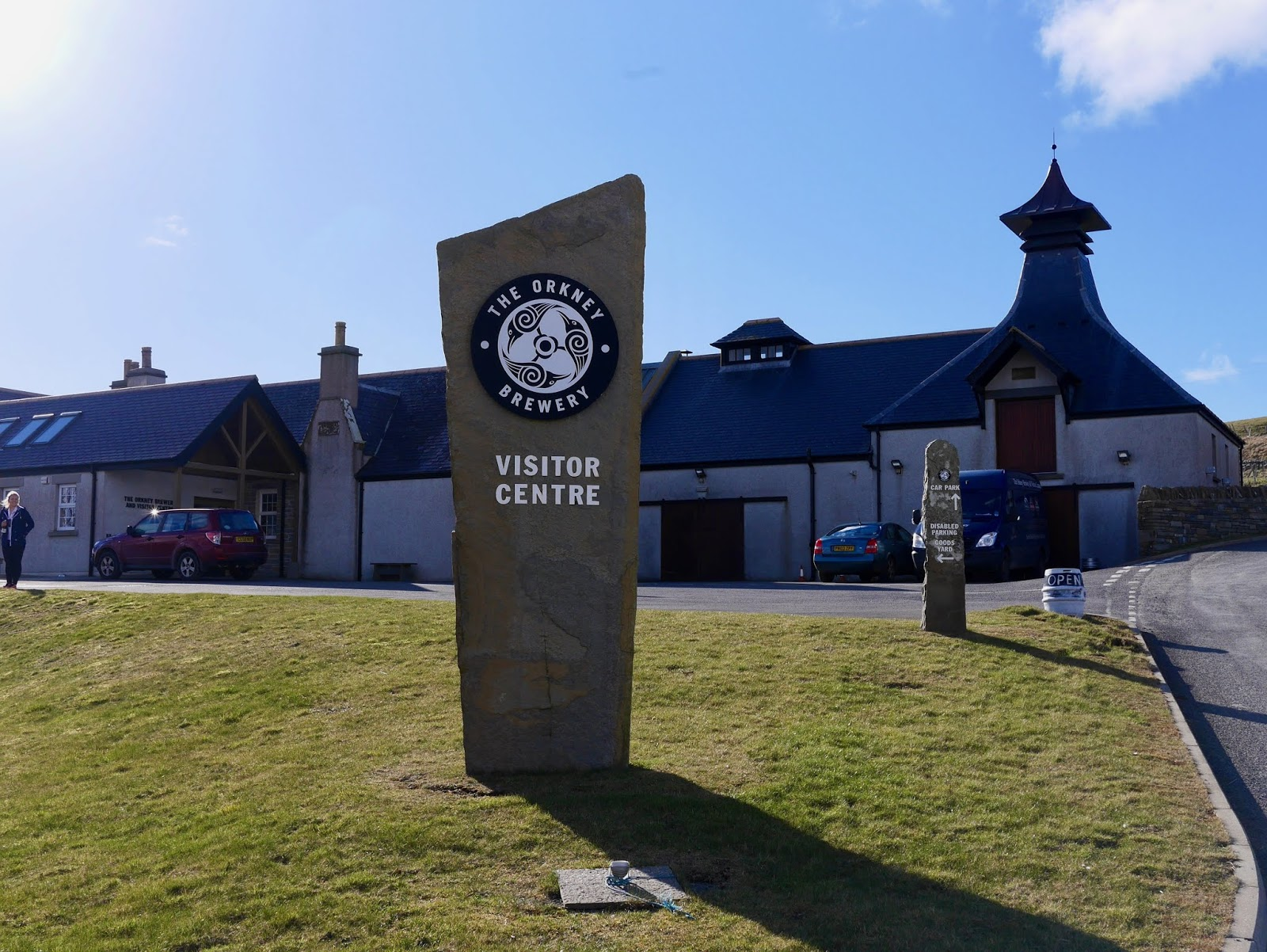 Outside the Orkney Brewery,  A trip to Orkney by www.CalMcTravels.com, Orkney, Whisky, Beer, Gin