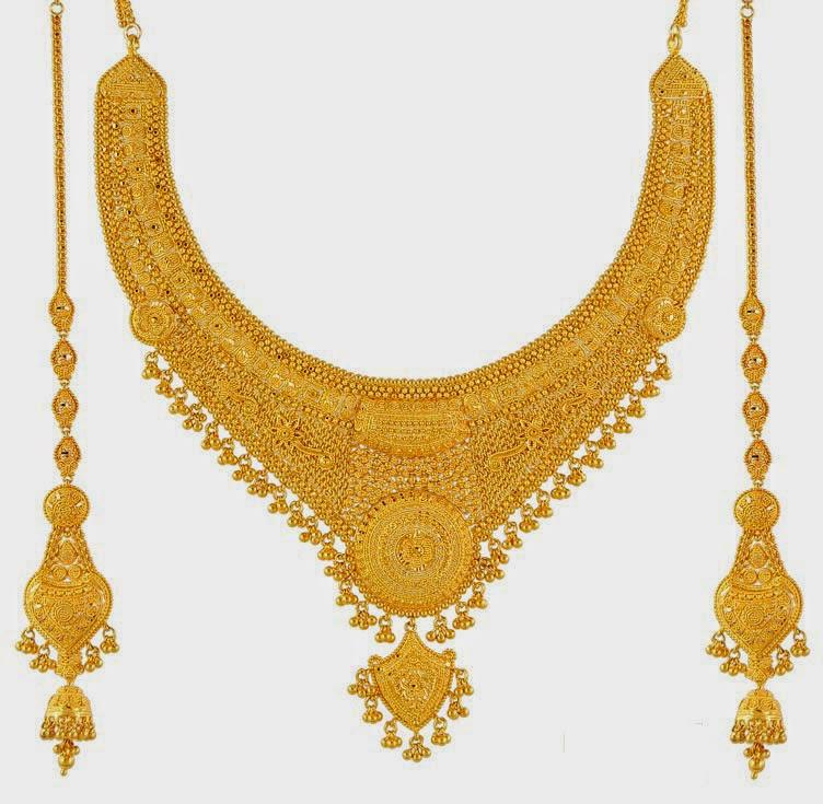 Wedding Snaps Gold Necklace Designs
