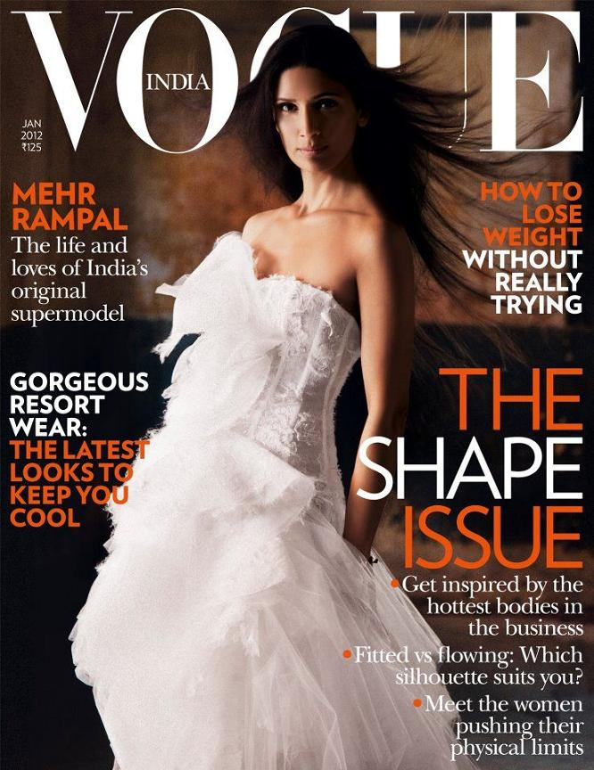 Mehr Rampal for the cover of Vogue India, January 2012