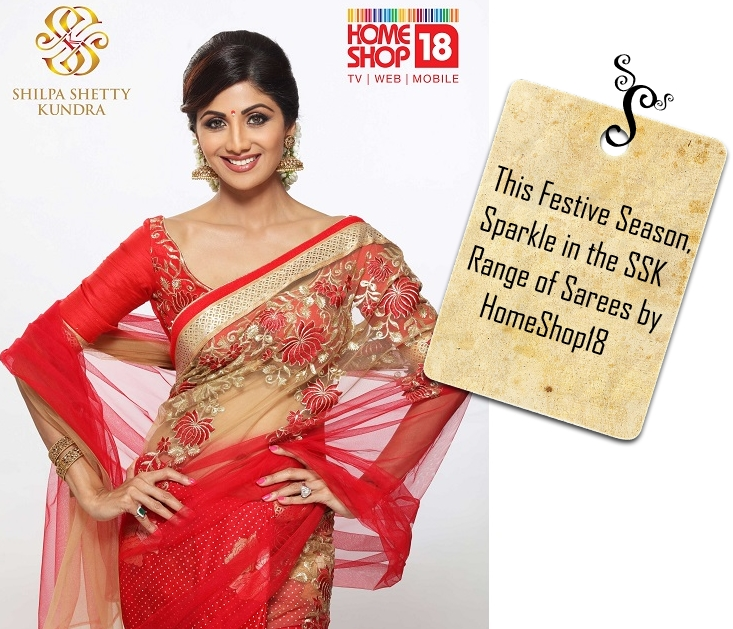 fb0dd12597 HomeShop18 Launches Shilpa Shetty Kundra (SSK) line of Sarees ...