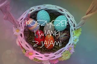 Koszyczek i wianki z jajami