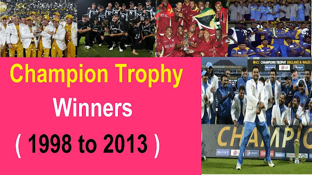 ICC Champions Trophy Winners List