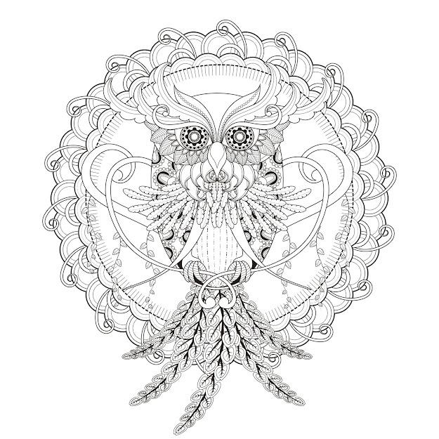 Incredible Owl Mandala Coloring Page  From The Gallery  Mandalasartist   Kchung  Source
