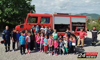 Επαρχία Ολυμπίας: Στα Δημοτικά Σχολεία Λεύκης και Ανδρίτσαινας η Πυροσβεστική Υπηρεσία (ΦΩΤΟ)