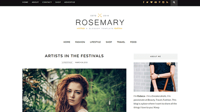 Download Rosemary SEO Responsive Blogger Template