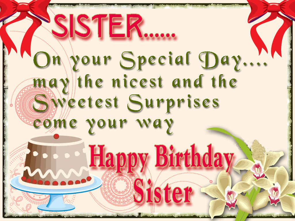 Happy Birthday To A Special Sister Quotes: Happy Birthday Sister Greeting Cards Hd Wishes Wallpapers