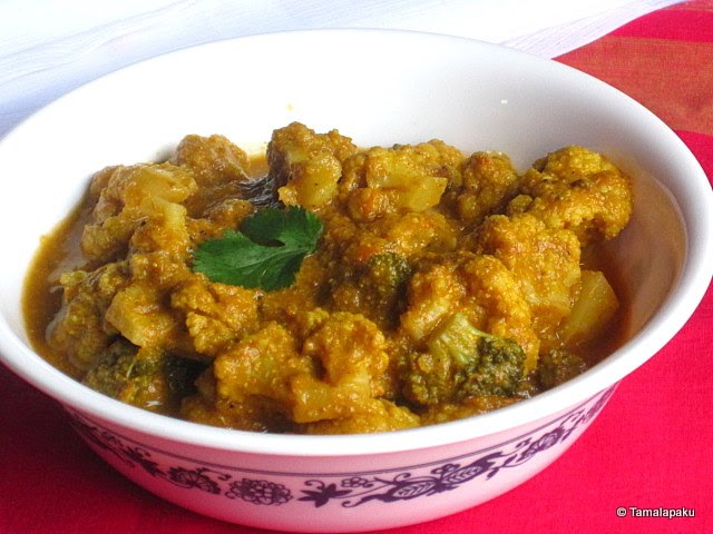 Cauliflower-Broccoli Curry