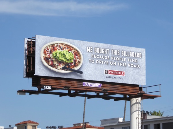Chipotle bought this billboard