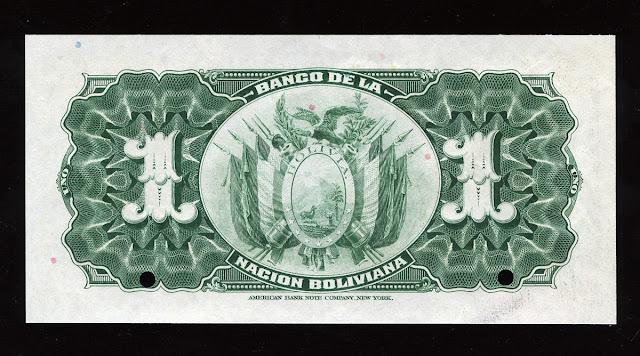 un boliviano billete