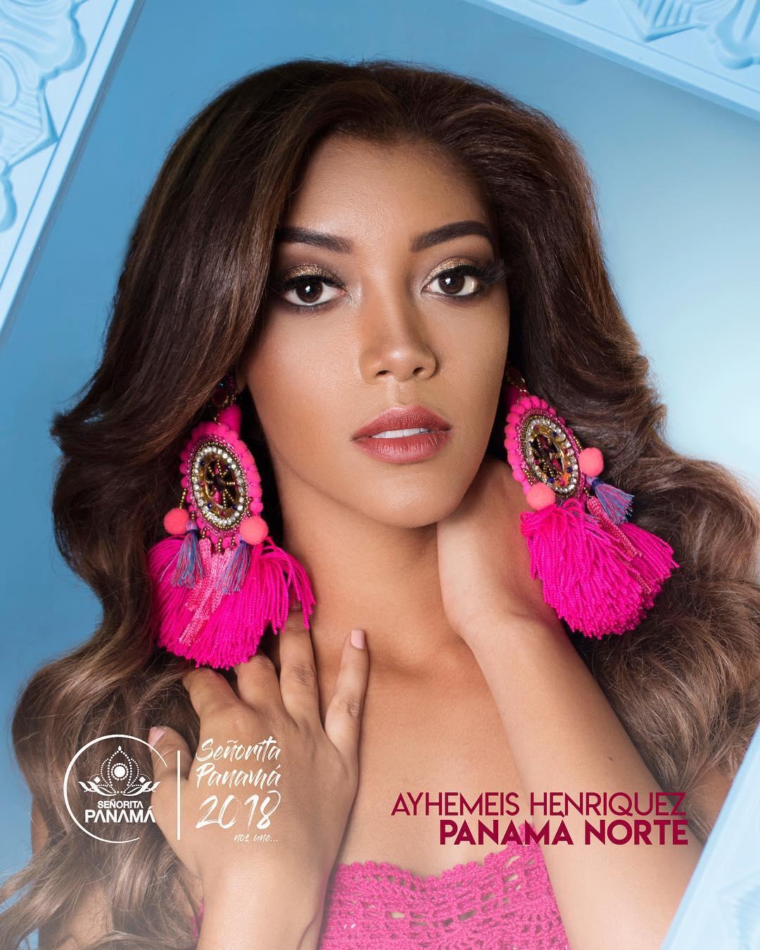 señorita miss colombia 2018 candidates candidatas contestants delegates Miss Panamá Norte Ayhemis Henríquez