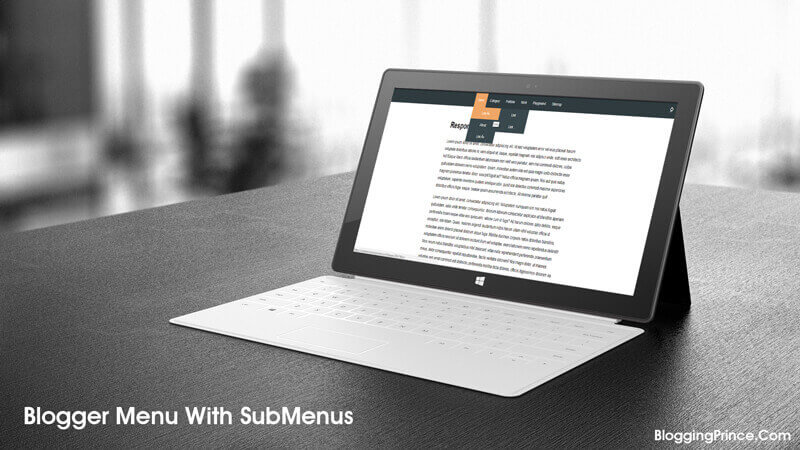 How To Create Drop Down Navigation Menu With Submenu In Blogger
