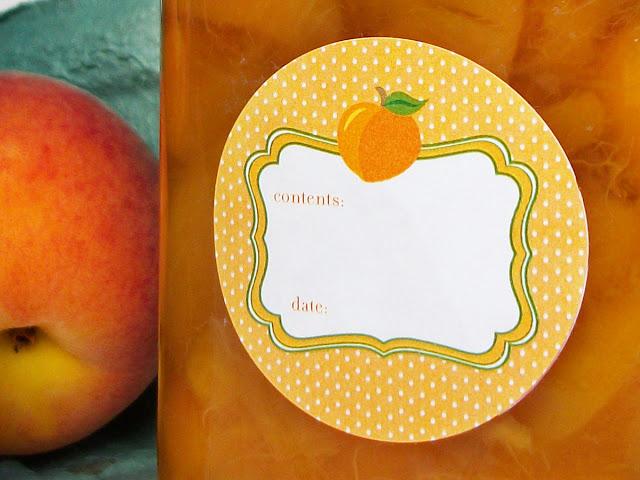peach jam preserves jelly jar labels